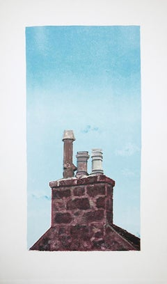 Roanheads Chimney #4 (Scotland), sky and historic architecture