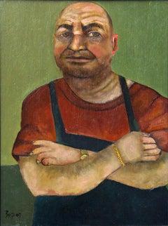 Shoe repairman, colorful, character
