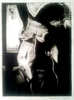 Figure, black and white,monochromatic mysterious female nude