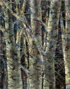 Winter Birch, abstract patterns, forest, birch tree