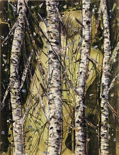Forest Torso, mystery, birch trees, abstract figure