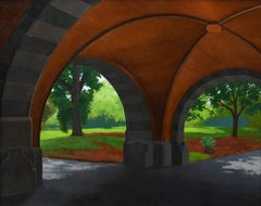 Two Arches, Prospect Park Brooklyn, sunlight architectural urban landscape