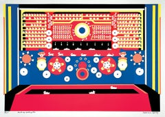 Shooting Gallery #2, colorful playful whimsical pattern graphic serigraph