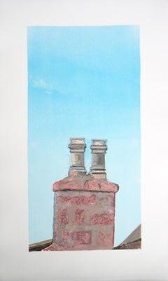 Roanheads Chimney # 2 (Scotland), brick architecture, blue sky