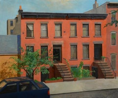 Ann's View, realistic, historic urban architecture, cityscape, orange brick