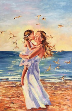 Moments of Happiness, Painting, Oil on Canvas