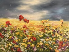 Scent of Summer Flowers, Painting, Oil on Canvas