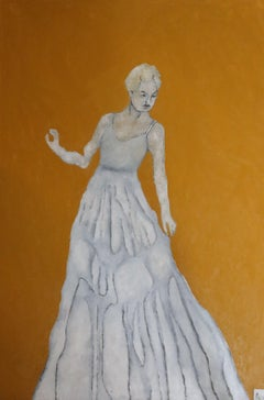 long dress, Painting, Oil on Canvas