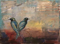 Birds of Kenya, Painting, Oil on Canvas