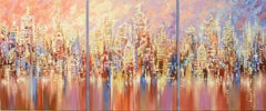 NYC REFLECTIONS, Painting, Acrylic on Canvas