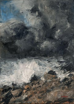 Seascape 2020-02-05, Painting, Oil on Canvas