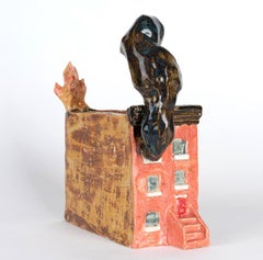 """""""I THINK THE NEIGHBORS ARE HAVING A BARBECUE"""", Ceramic Sculpture, Disaster Humor"""