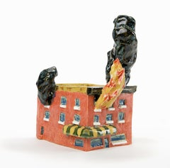 """""""I'M NOT LEAVING THE HOUSE TIL I FIND MY PHONE"""", Ceramic Sculpture, House Fire"""