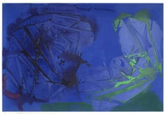 """""""QUANTUM ENTANGLEMENT"""", Abstract Painting, Acrylic on Canvas, Blue Indigo Green"""