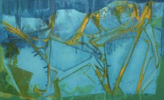 """""""TURQUOISE TWO STEP"""", Abstract Painting, Turquoise, Blue and Yellow, Green"""