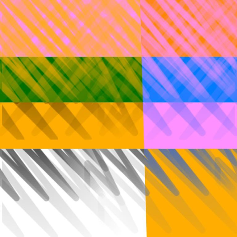 """""""CY, SOL AND NOT AT ALL 03032019 1211am"""", Abstract, Digital, Orange, Pink, White"""