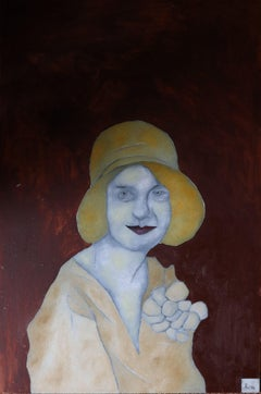 yellow hat, Painting, Oil on Canvas