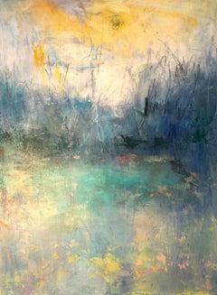 Morning Walk, Painting, Acrylic on Canvas