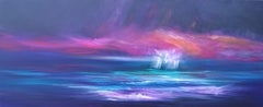 Winds of Change - Panoramic Seascape, Painting, Acrylic on Canvas