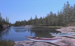 Two Kayaks, Painting, Acrylic on Canvas