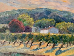 Vines at Sunset, Painting, Oil on Wood Panel