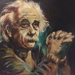 Portrait of Einstein, Painting, Oil on Canvas
