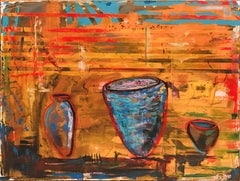 Peru Pots, Painting, Oil on Canvas