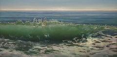 """'OCEANUS: ILLUMINA"""", Painting, Oil on Wood Panel"""