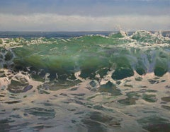 """'TRITON, NO. 3"""", Painting, Oil on Wood Panel"""