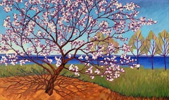 Traverse Bay Cherries, Painting, Oil on Canvas