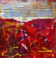 Deep Red, Painting, Oil on Canvas