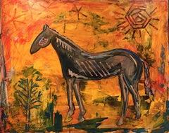 Desert Horse, Painting, Oil on Canvas