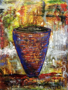 Large Pot, Painting, Oil on Canvas