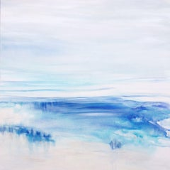 Blue Silence, Painting, Watercolor on Canvas