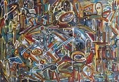 Bureaucracy (2), Mixed Media on Canvas