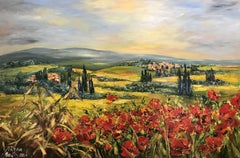 Toscana. Italy, Painting, Oil on Canvas