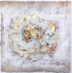 Wabi-Sabi.V  gold Leaf/ Japanese parchment, Painting, Acrylic on Paper
