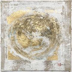 Wabi-Sabi.IV  gold Leaf/Japanese parchment, Painting, Acrylic on Paper