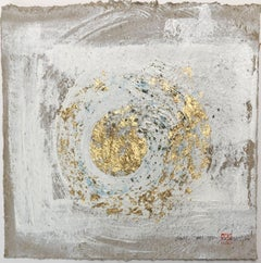 Wabi-Sabi.III gold Leaf/Japanese parchment, Painting, Acrylic on Paper