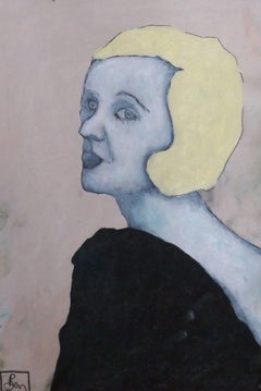 The Black dress, Painting, Oil on Paper