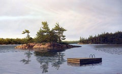 Honey Harbor Dock, Painting, Acrylic on Canvas