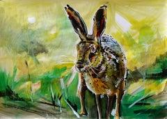 Rabbit, Painting, Acrylic on Paper