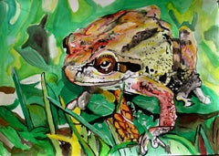 Frog, Painting, Acrylic on Paper