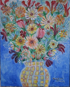 Flowers 04, Painting, Acrylic on Canvas