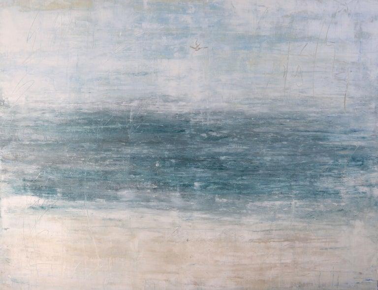 "Roger König Abstract Painting - ""1272 Abstract Siesta Beach"", Painting, Acrylic on Canvas"
