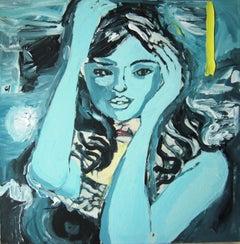 Blue Angel, Painting, Acrylic on Canvas
