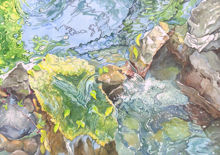 Spring Colors, Painting, Watercolor on Watercolor Paper - Art by Leslie White