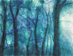 In the woodland : The witches trees #2, Painting, Watercolor on Paper