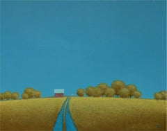 Lane to the Old Farmhouse, Painting, Acrylic on Canvas