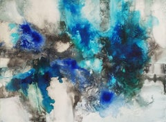 Disappearing Beauty - Greenland melting, Mixed Media on Canvas